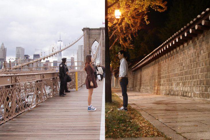 Foto de pareja a la distancia
