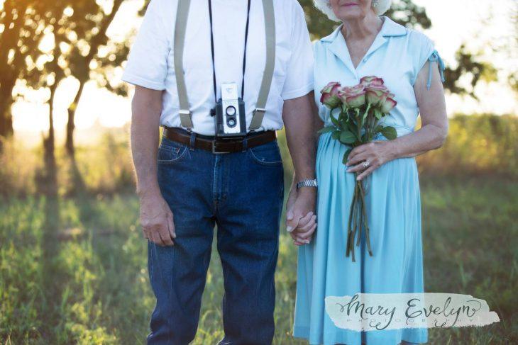 Sesión de fotos ancianos enamorados