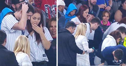 Chico pierde el anillo de compromiso durante juego de béisbol y el publico deja todo para encontrarlo