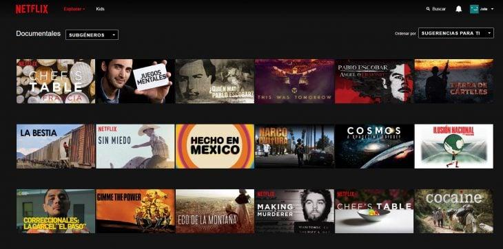 Documentales en Netflix