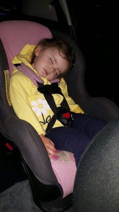 Beatrix Hart dormida.