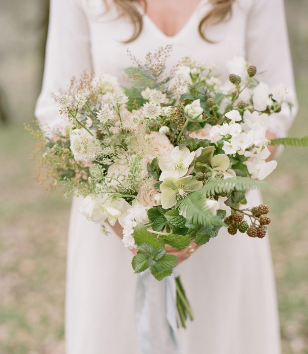 ramo de novia flores blanzas