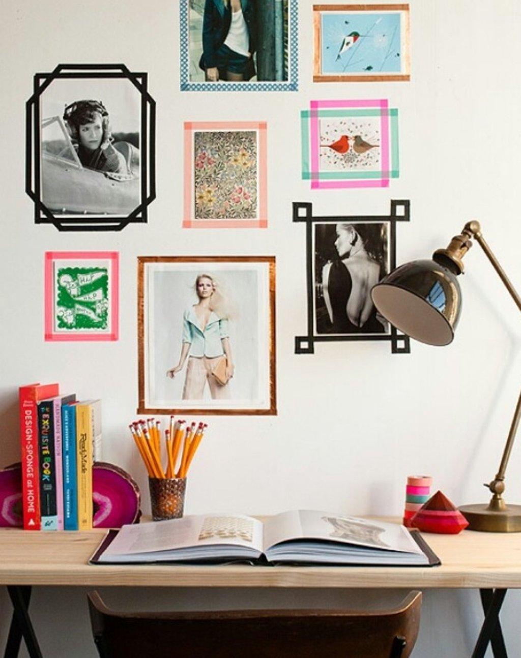 enmarca tus fotografas con cinta adhesiva de colores