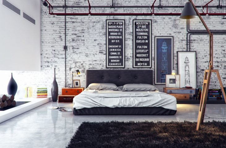 Cuadros gigantes como decoración de habitación