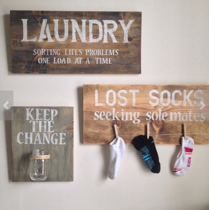 Letreros de calcetines perdidos