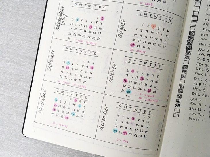 agenda hecha a mano