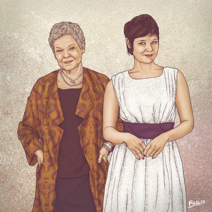 """12 Celebridades dibujadas al lado su """"yo del pasado"""" que te traerá toda la nostalgia"""