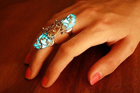 Anillo dedo completo que brilla