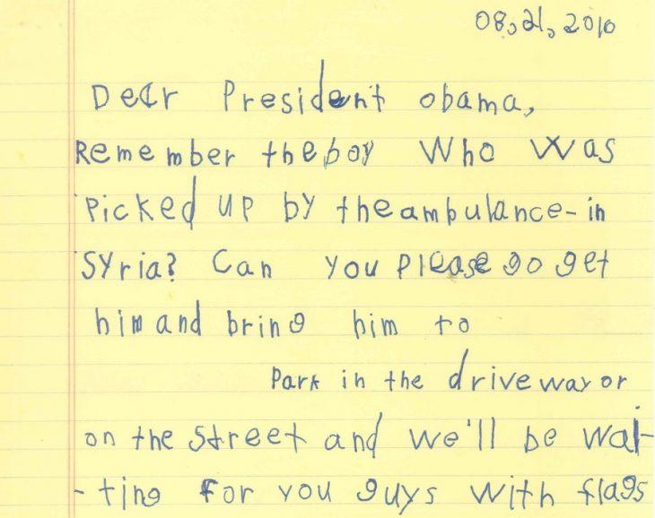 carta de un niño a Obama