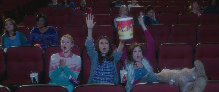 mujeres sentadas en el cine