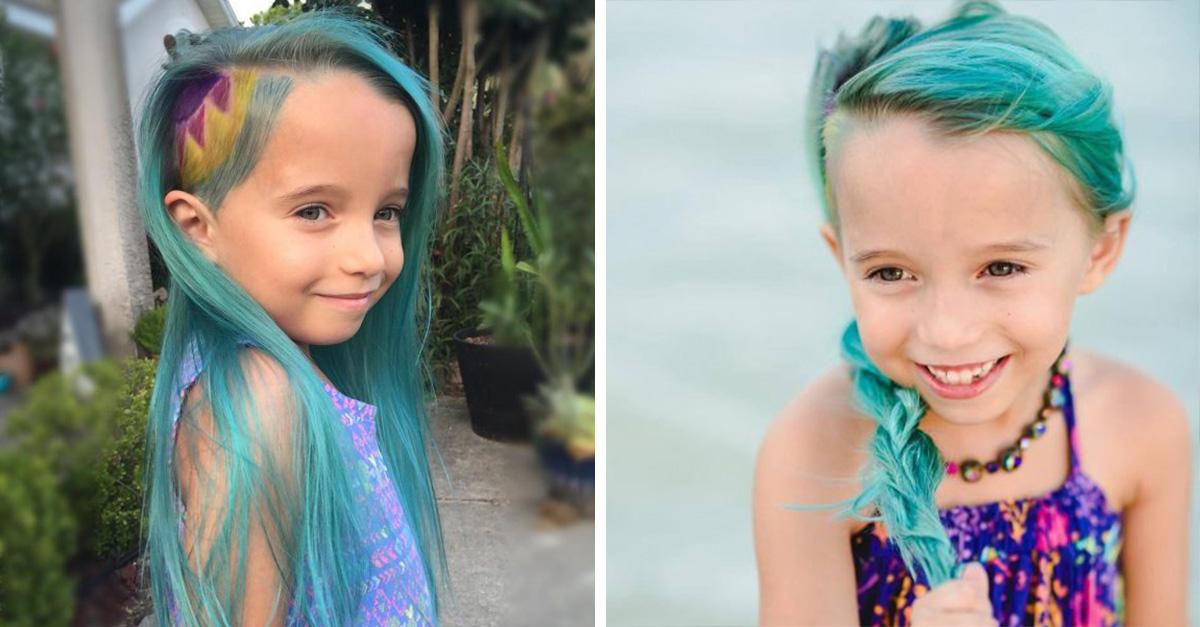 Mary Thomaston considera que los 6 años es la mejor edad para que su hija tenga un corte alocado y exótico.