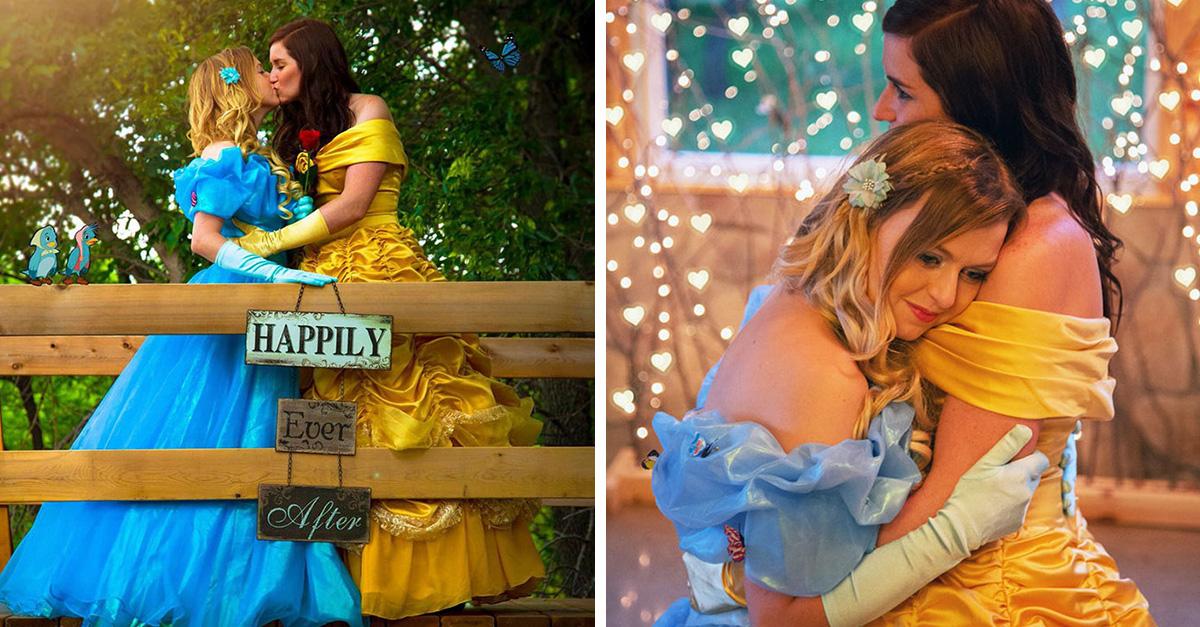 Princesas gay rompen estereotipos Disney con su sesión de compromiso