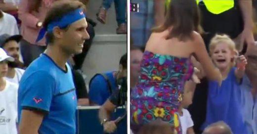 Rafael Nadal detiene juego para que una pequeña perdida pueda encontrar a su mamá