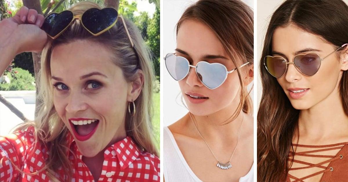 Reese Witherspoon trae de vuelta la moda de los lentes de corazones