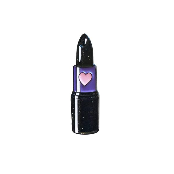 pin de labial negro