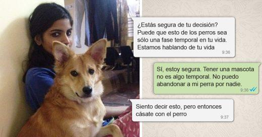 Una chica hindú rechaza a un hombre a quien no le gustaba su perro