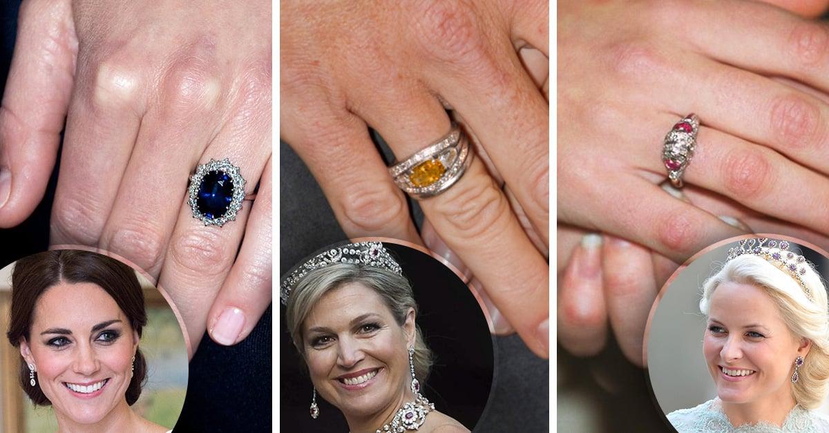 Conoce los anillos de compromiso más bellos de la realeza