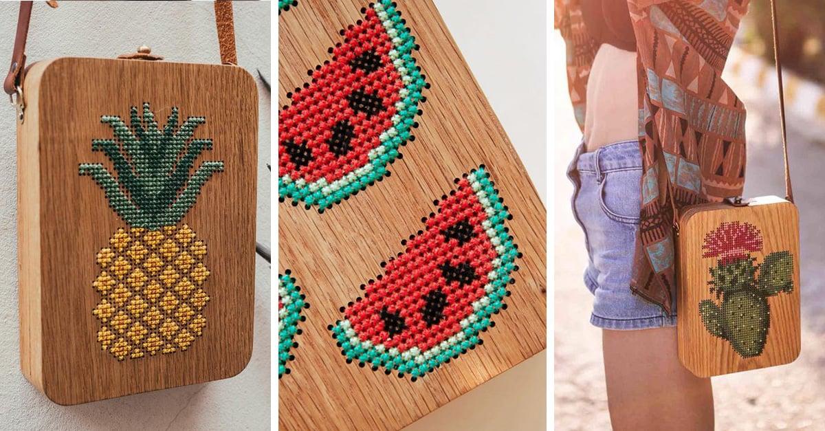 Estos bolsos de madera bordada son todo lo que hacía falta a tu guardarropa