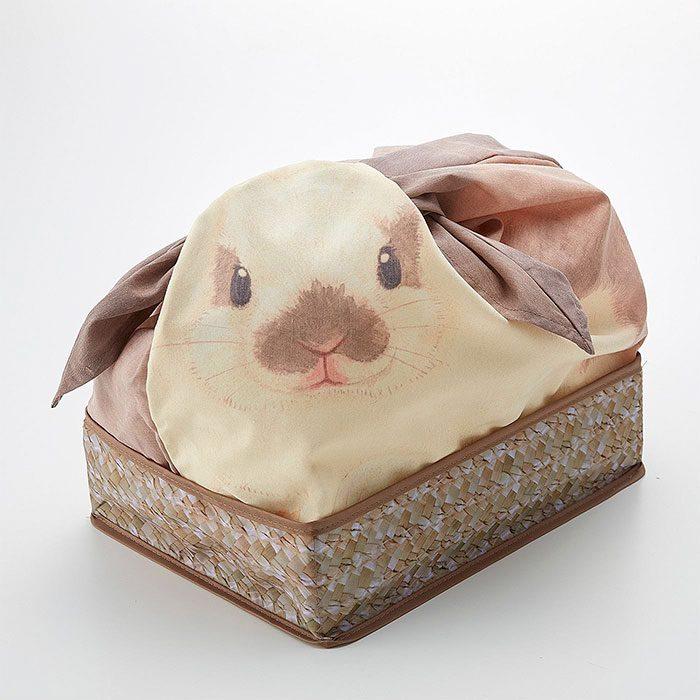 Bolsa de conejito en una canasta