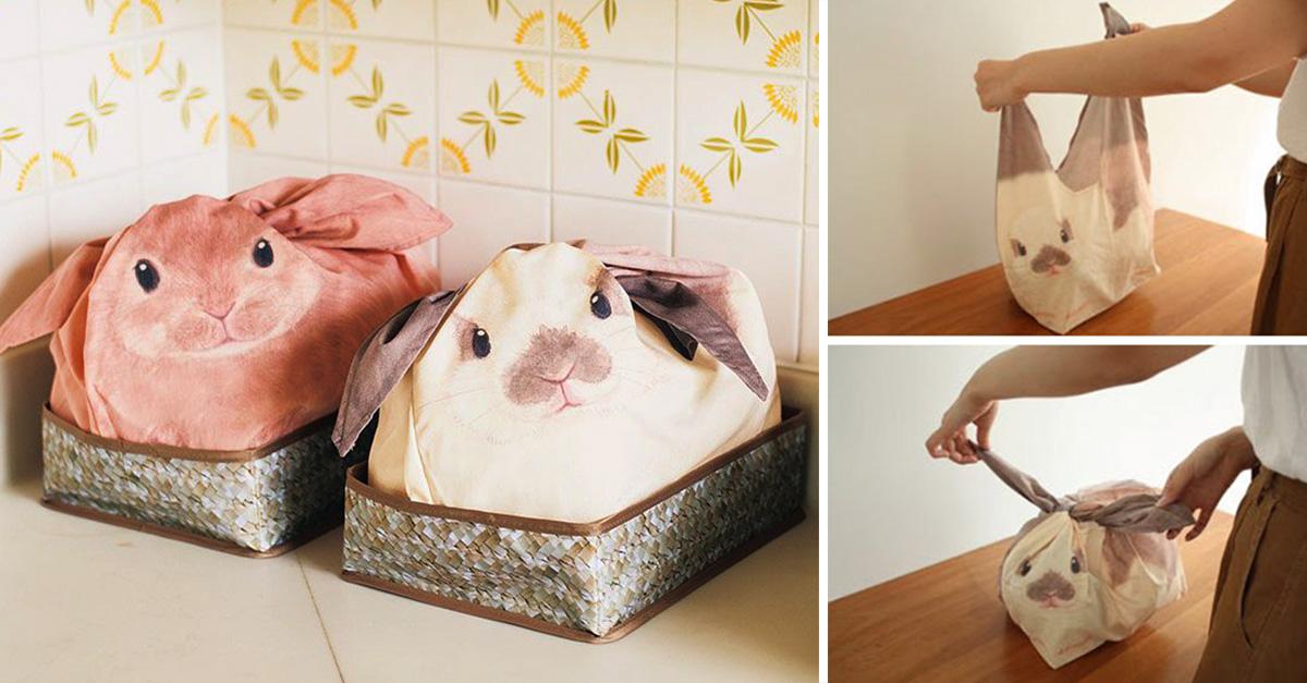 Estas bolsas de conejito transformarán mágicamente tu desorden