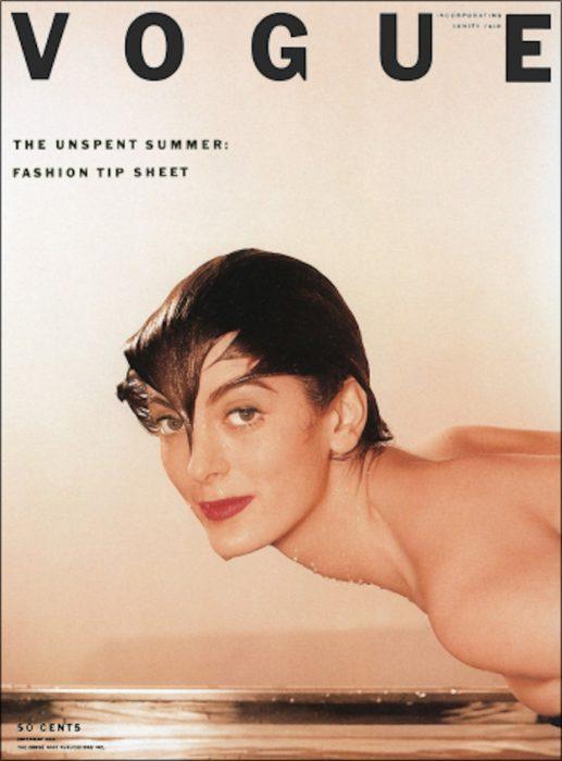 Carmen Dell'Orefice en portada de la revista Vogue.