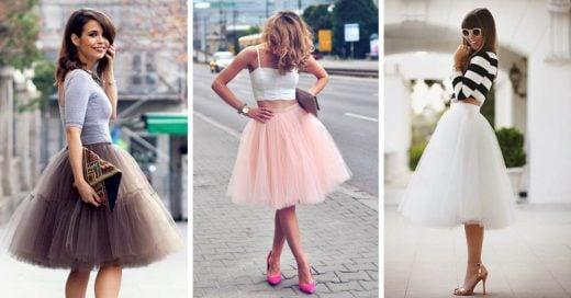 faldas de tull para lograr el look de otoño más chic