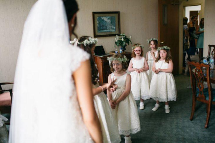 niñas damas de boda