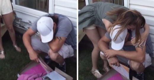 Este hombre se desploma cuando la hija de su novia le pide que la adopte en su fiesta de graduación