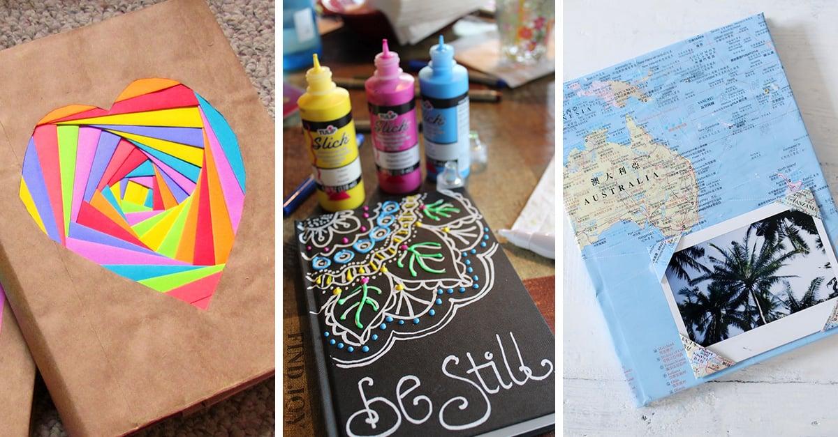 Ideas De Portadas Para Cuadernos Decorar Libretas Con: 15 Ideas Super Originales Para Decorar Tus Libretas