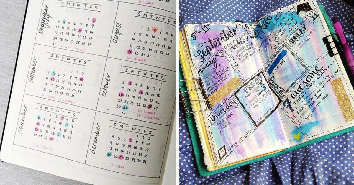 10 ideas para que hagas tu propia agenda