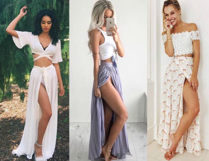 tres estilos de falda linea A tropical