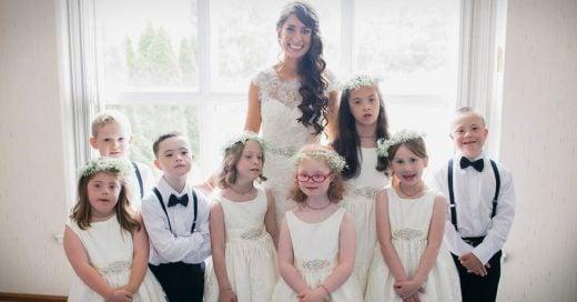 Maestra de educación especial invita a sus alumnos a su boda