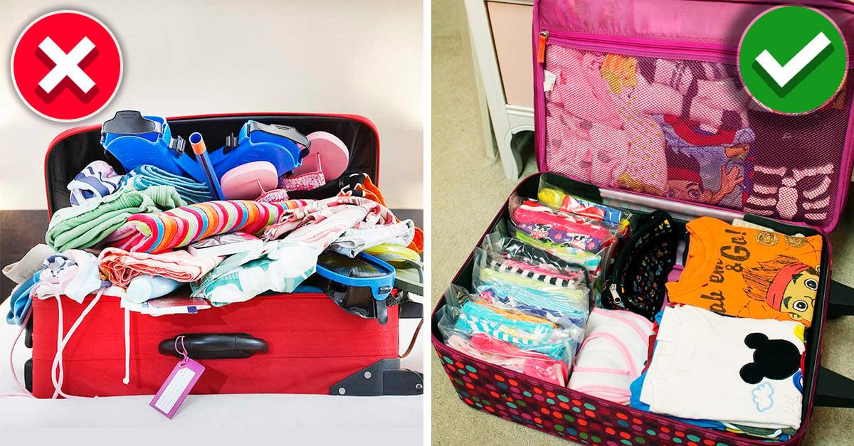 10 Maneras de empacar tus cosas para viajar que te demostrarán que habías vivido engañada