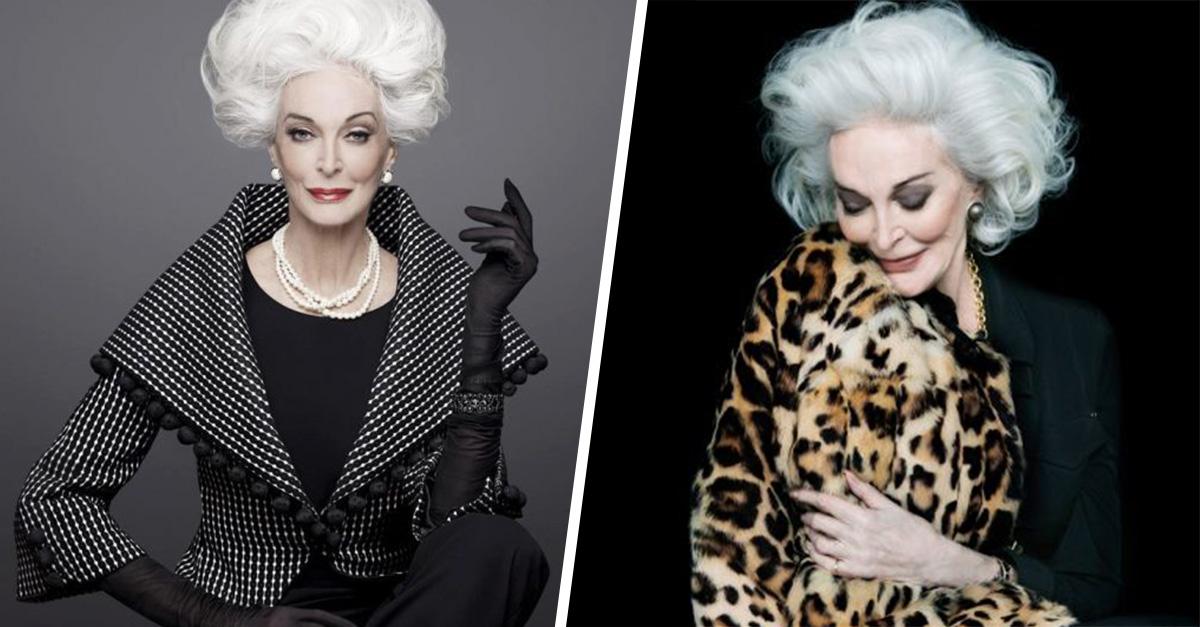 Eternamente bella, bella. Ella es la modelo de 85 años más longeva de las pasarelas