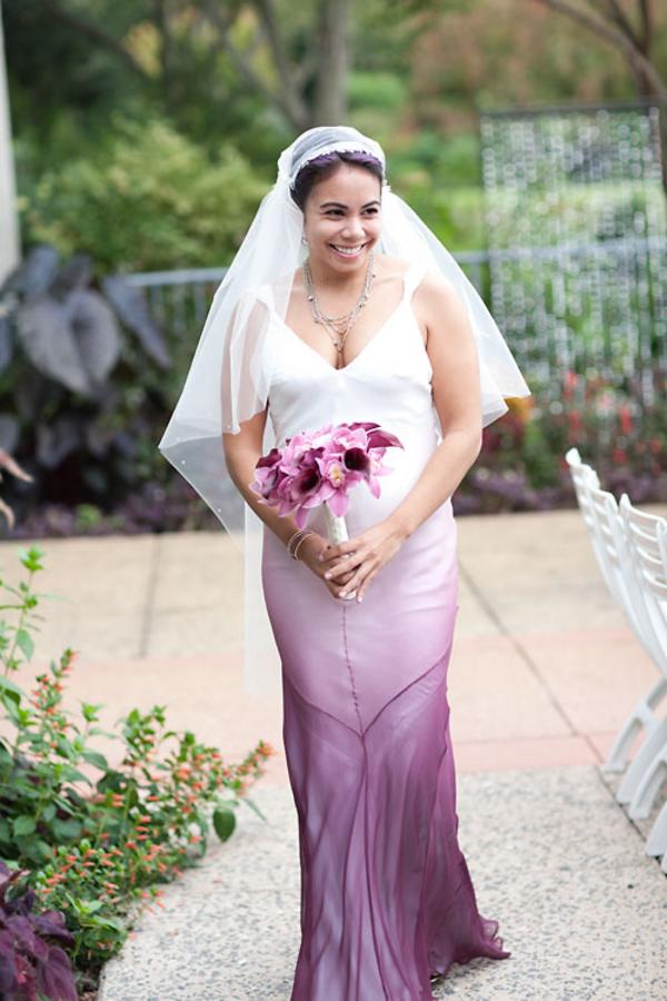 20 ideas para personalizar tu vestido de novia con deslavado