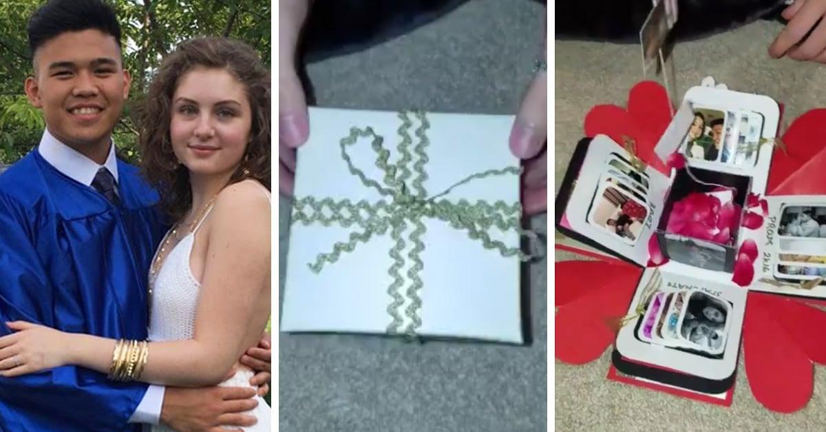 Este chico creo una mágica caja para decirle adiós a su novia