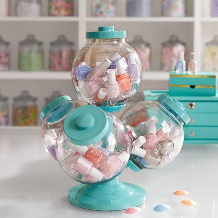 Organizador de esmaltes en forma de dulcero