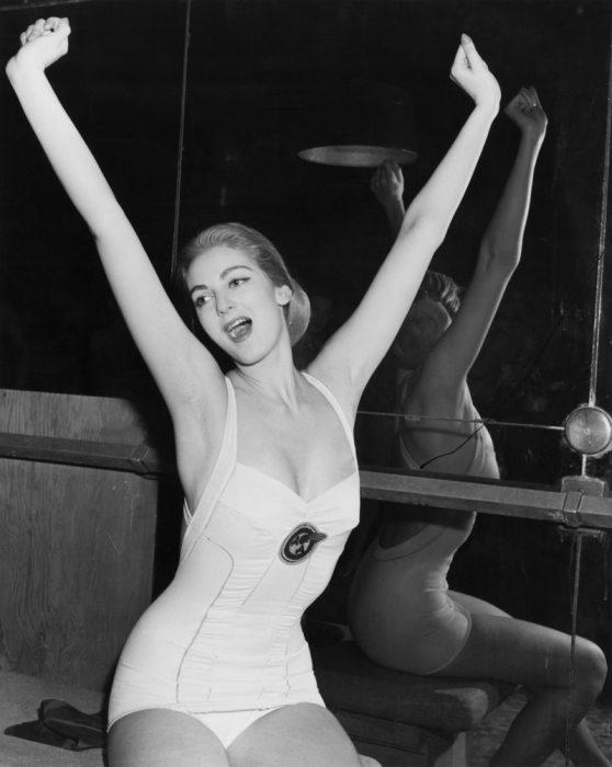Carmen Dell'Orefice cuando era joven.
