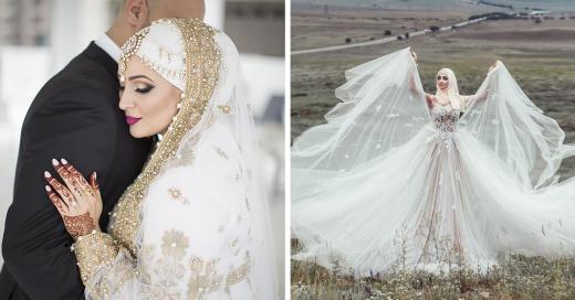 15 Novias que usan hiyabs el día de su boda y lucen ¡espectaculares!