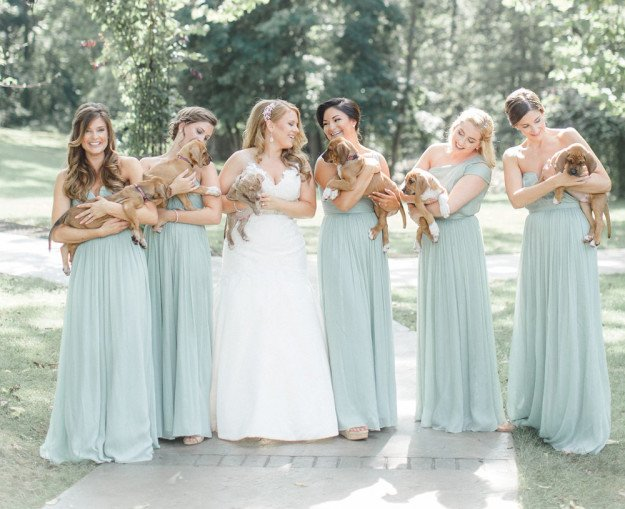 The bride and her ladies in the photo shoot wedding.