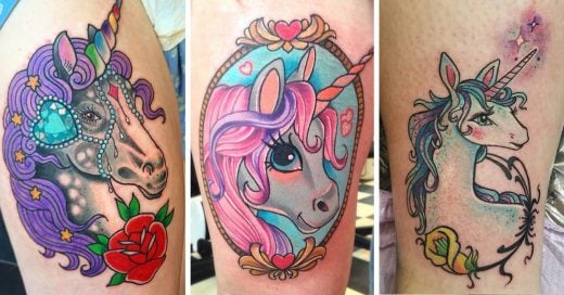 Estamos obsesionadas con los tatuajes de unicornios