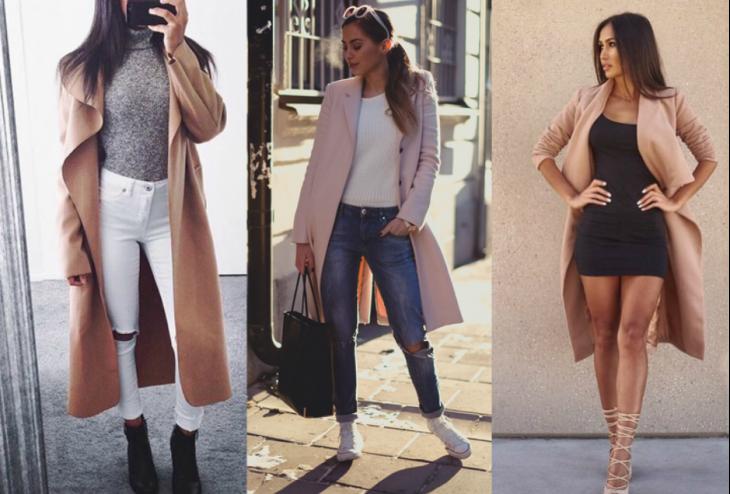 three styles of skirt three styles of long coat