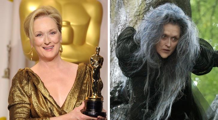 Mery Streep interpreta La Bruja.