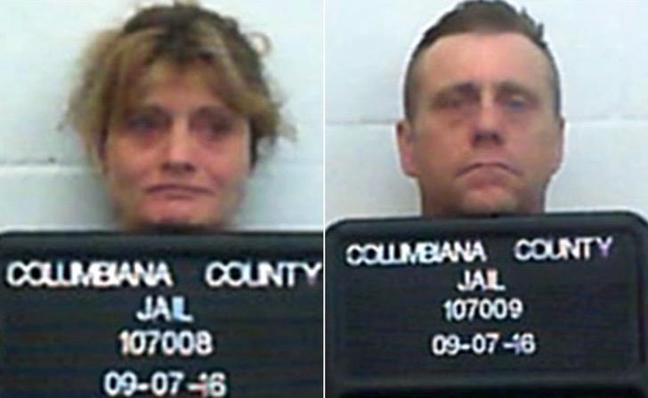 Fotos de la pareja que fue acusada de diversos delitos.