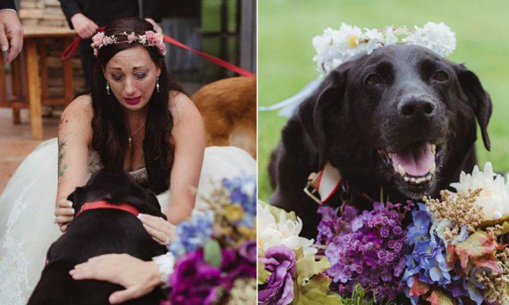 Fotos de la novia y su gran amigo Charlie.