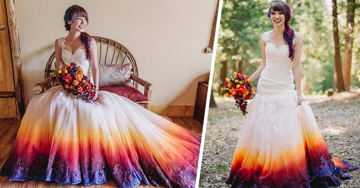 El glamouroso vestido de novia que tardó un año en terminar