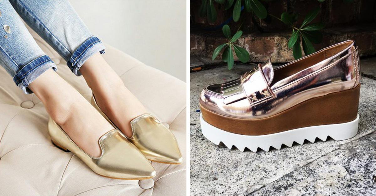 Zapatos metálicos, la tendencia ideal de otoño que llegó para quedarse