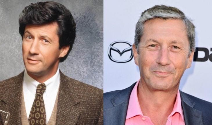hombre de cabello negro y traje antes y después