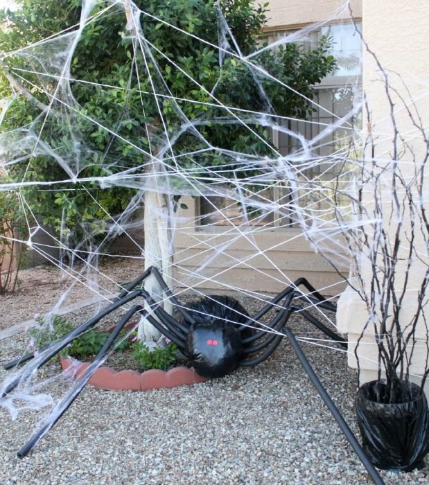 araña gigante con telaraña