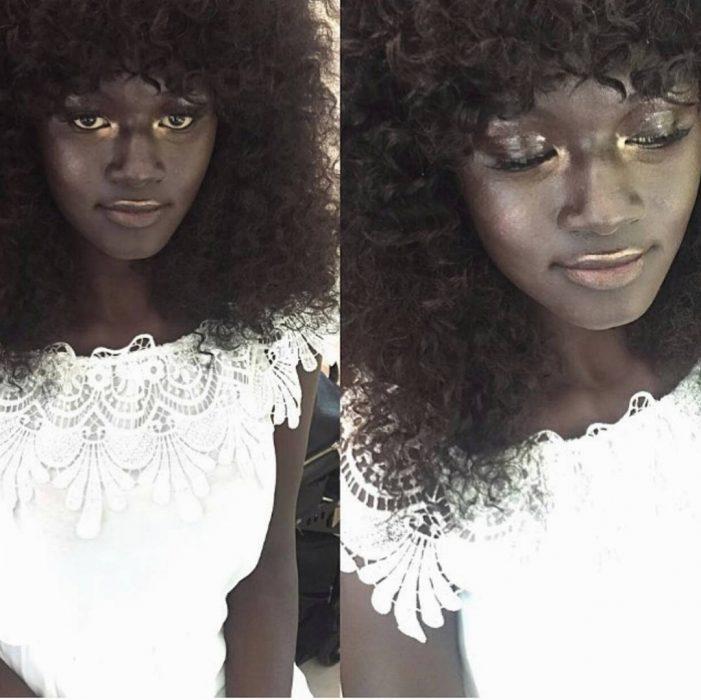 mujer negra con cabello afro
